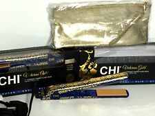 "CHI FAROUK 1"" CERAMIC RARE Victorian Gold Hairstyling Dual Voltage Flat Iron NIB"