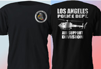 NEW LAPD Los Angeles Police Department Air Support Division Black T-Shirt S-4XL