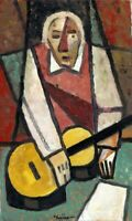 "Anatoliy Chudinovskikh Expressionist ""Musiker"" Öl Leinwand 40x30"