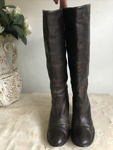 Sachi Women Leather Heel Boots/ Exc Conds/ Size 6.5