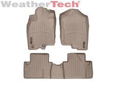 WeatherTech FloorLiner Mats for Honda Insight w/Ret - 10-14 - 1st/2nd Row Tan