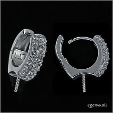 Fine Sterling Silver CZ Leverback Earring Hook Connector with Pin #97180