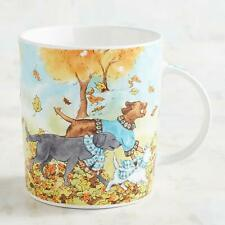 New Pier 1 20oz Halloween Park Bench Puppies in Autumn Dog Coffee Tea Mug Cup