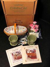 Longaberger Collectors Club Miniature May Series Peony Basket Combo w/Pots