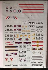 1/72 xtradecal TORNADO GR1 & F3 1989 Update- various squadrons & RAE Bedford