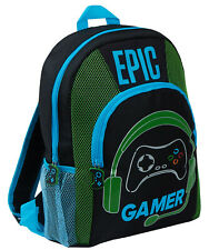 Boys Epic Gamer Backpack Kids Gaming School Travel Lunch Book Bag Rucksack Gift