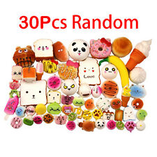 30/Set Jumbo Medium Mini Random Squishy Soft Bread-Cake-Buns Phone Straps Charms