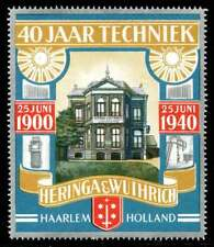 Netherlands Poster Stamp - 1940 Anniversary Heringa & Wuthrich Electrical Tech.