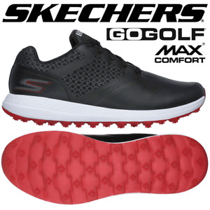 SKECHERS GO GOLF COMFORT MAX Dri-Lex® GOLF SHOES / BLACK - RED  / ALL SIZES