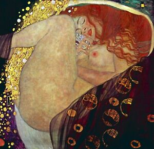 Danae by Gustav Klimt Giclee Fine Art Print Repro on Canvas