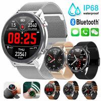 IP68 Waterproof Smart Watch ECG Heart Rate Blood Pressure Monitor F/ IOS Android