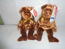 (2) TY Champion Beanie Baby - FIFA France & Spain Bears - 2002