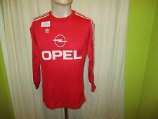 """FC Bayern München Adidas Langarm Deutscher Meister Trikot 1989/90 """"OPEL"""" Gr.S"""