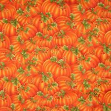 Thanksgiving Fabric - Metallic Orange Packed Pumpkin - Timeless Treasures YARD
