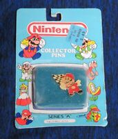 1989 Nintendo Collector Pin Mario with Flag Sealed NIB ACE Series A #9 NES era