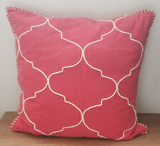 Pottery Barn Tile Embroidered Ruby Pillow Cover 22""