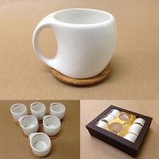Diseñador 6 piezas Futurista Estilo Café Y Té Latte Juego+Madera Posavasos 200ML