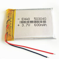 3.7V 600mAh 503040 LiPO Polymer li ion Battery For MID DVD GPS PDA USB Pen Mp3