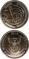 SÜDAFRIKA/SOUTH AFRICA 5 Rand 2014 UNC '20 Years of Freedom' Bimetall