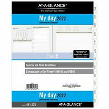 2022 Daily Planner Refill By At A Glance 94800 Day Timer 8 12 X 11 Size 5