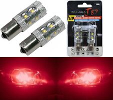 LED Light 50W 1156 Red Two Bulbs Front Turn Signal Replace Upgrade Show Use JDM
