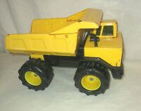 Vintage Tonka Mighty Diesel Construction Dump Truck Yellow Pressed Steel