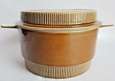 Vintage Poole Pottery 'Compact Range' Olive 3pt Casserole