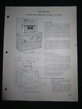 Seeburg Extented Bass Consolette Speaker EBCS2 Service Info Manual Wiring Parts