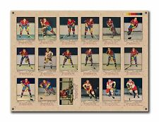 Uncut sheet 1951-52 Parkhurst, Reprint Canadiens Team set 18 Cards, Buy It Now