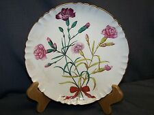MINTON PLATE  SEP. 1868  HAND PAINTED  CARNATIONS