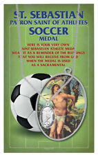 St. Sebastian Soccer Medal Necklace with a Free prayer card