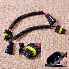 2x HB4 9006 Extension Wiring Harness Socket Plug Wire Adapter Headlight Foglight
