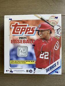 2021 Topps Series 1 Baseball Jumbo Box 16 packs 256 Total Cards NEW SEALED