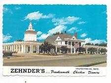 FRANKENMUTH, MI Zehnder's Chicken Dinners -  continental size postcard
