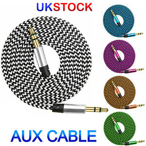 1m Aux Cable Audio Extension 3.5mm Jack male to Stereo Male male for Car PC Aux