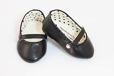 "Black Mary Janes T-Strap Shoes made for 18"" American Girl Doll Clothes"