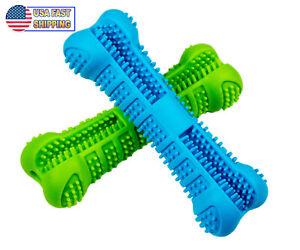 Dog Toothbrush Chew Toy Bone - Pet Dental Teeth Brushing Cleaner Stick Oral Care