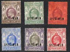 Hong Kong KEVII Ovpt. Specimen group (JL29)