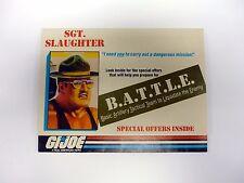 GI JOE SGT SLAUGHTER BATTLE CATALOG Vintage Brochure Booklet COMPLETE 1986