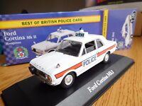 FORD CORTINA MK2 MODEL CAR POLICE HAMPSHIRE 1:43 SCALE CORGI VANGUARDS ATLAS