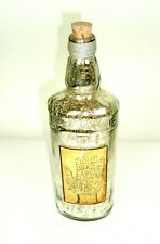 "11"" Faux Mercury Glass Bottle Vtg. Style Hand Fortune teller Label Home Decor"