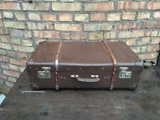 Vintage Soviet Russian USSR Brown Travel Suitcase Large Trunk Luggage Case