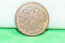 1865 US 2 Cent Type Coin VG