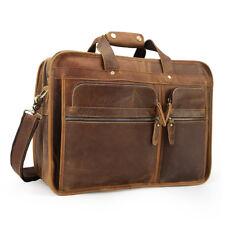 Men Leather Handbag Briefcase Messenger Shoulder Bag Travel Bag 17