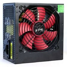 Pulse PPS-500BR 500w PSU ATX 12V Active 120mm Silent Red Fan Black Casing