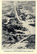 Der Panamakanal wie er nach Vollendung vom Ballon aus erscheinen wird Bildd.1909