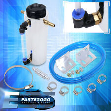 350ML Oil Catch Can Round Aluminum Anodized Polish Reservoir Tank Filter Set(Fits: More than one vehicle)