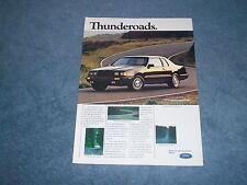 "1986 Ford Thunderbird Vintage Ad ""Thunderoads"""