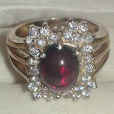 NATURAL! HESSONITE GARNET RING 925 STERLING SILVER,Vintage,SIZE 7.0