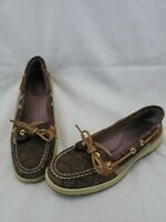 Sperry Top-Sider Women's 8.5 M Embossed Leather Boat Shoe Angel Fish EUC